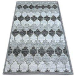 Akril yazz szőnyeg 3766 Szürke/Elefántcsont Lóhere Marokkói Trellis