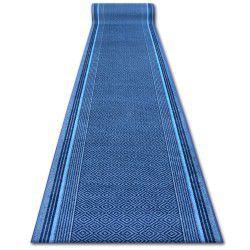 Vastag csúszásgátló futó szőnyeg JURA kék rombusz