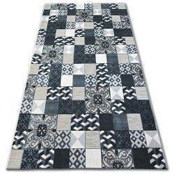 Lisboa szőnyeg 27218/356 Négyzetek Csempe Fekete Stílus Lisszabon Portugál