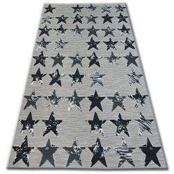 Lisboa szőnyeg 27219/956 Csillagok Fekete