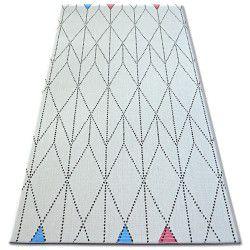 Fonott sizal color szőnyeg 19312/236 Rombusz Háromszögek Fehér