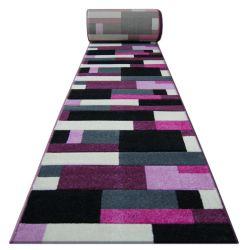 Heat-set Fryz futó szőnyeg PILLY - 8403 fekete ibolya