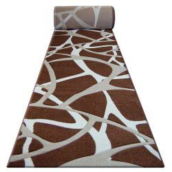 Heat-set Fryz futó szőnyeg PILLY - 7777 barna