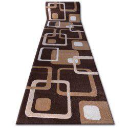 Heat-set Fryz futó szőnyeg FOCUS - F240 wenge négyzetek barna kakaó