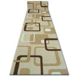 Heat-set Fryz futó szőnyeg FOCUS - F240 fokhagyma négyzetek bézs arany