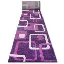 Heat-set Fryz futó szőnyeg FOCUS - F240 ibolya négyzetek szilva hanga