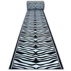 Heat-set Fryz futó szőnyeg 9032 ZEBRA fehér fekete