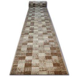 Bcf futó szőnyeg BASE négyzetek bézs négyzetek