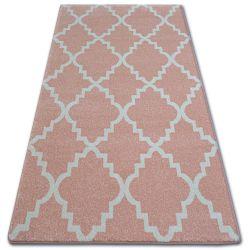 Sketch szőnyeg - F343 rózsaszín/krém Lóhere Marokkói Trellis
