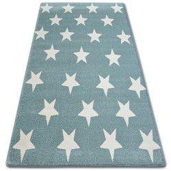 Sketch szőnyeg - FA68 türkiz/krém - Csillagok