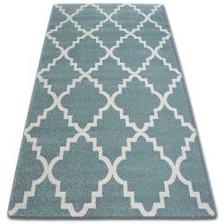 Sketch szőnyeg - F343 türkiz/krém Lóhere Marokkói Trellis