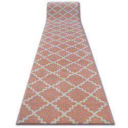 Sketch futó szőnyeg - F343 rózsaszín/krém Lóhere Marokkói Trellis