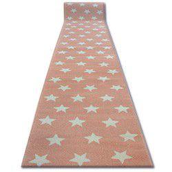 Sketch futó szőnyeg - FA68 rózsaszín/krém - Csillagok