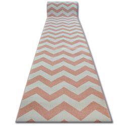 Sketch futó szőnyeg - FA66 rózsaszín/krém - Cikcakk