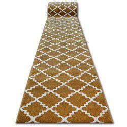 Sketch futó szőnyeg - F343 arany/krém Lóhere Marokkói Trellis