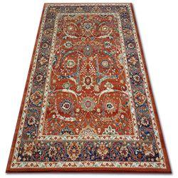 Vera szőnyeg 4561 Virágok terra / kék GYAPJÚ
