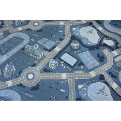 Gyerekeknek szőnyegpadló csúszásgátló STREET kék