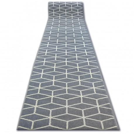 Bcf futó szőnyeg BASE 3956 CUBE szürke négyzetek