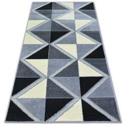 Bcf szőnyeg BASE TRIGONAL 3974 HÁROMSZÖGEK fekete/szürke