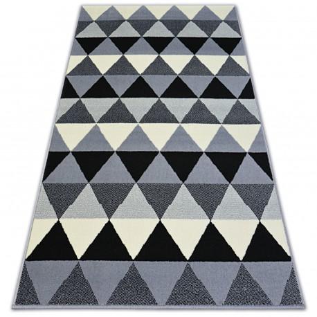 Bcf szőnyeg BASE TRIANGLES 3813 HÁROMSZÖGEK fekete/szürke