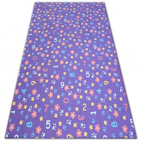Gyerekeknek szőnyeg NUMBERS ibolya szám, ábécé, számjegy