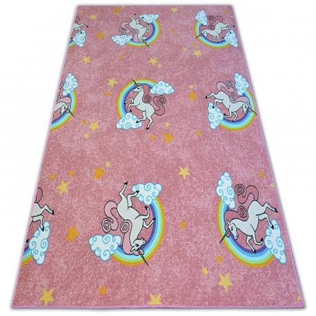 Gyerekeknek szőnyeg UNICORN rózsaszín EGYSZARVÚ