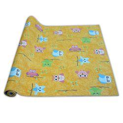 Gyerekeknek szőnyegpadló szőnyeg OWLS sárga BAGOLY BAGOLY