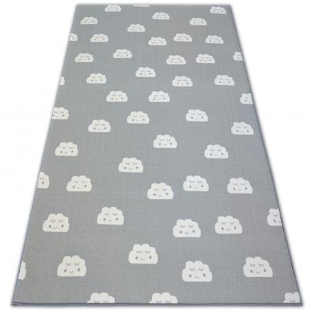 Gyerekeknek szőnyegpadló csúszásgátló FELHŐK szürke