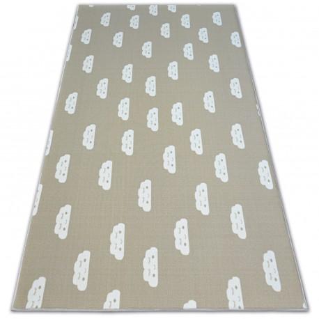 Gyerekeknek szőnyegpadló csúszásgátló FELHŐK bézs