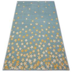 Pastel szőnyeg 18408/032 - Csillagok türkiz arany krém
