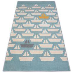 Pastel szőnyeg 18411/032 - Vitorlások Csónak türkiz krém szürke arany