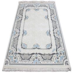 Akril mirada szőnyeg 0065 Krém/Kék ( Mavi ) rojt