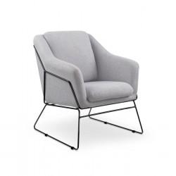 Fotel soft 2 fényes szürke