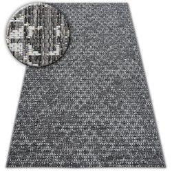 Fonott sizal szőnyeg LOFT 21145 boho elefántcsont/ezüst/szürke