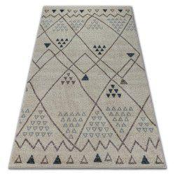 Soft szőnyeg 2554 etno krém / fényes szürke