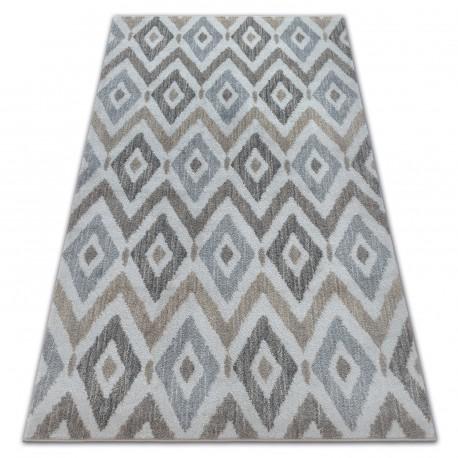 Soft szőnyeg 6024 rombusz krém / bézs / barna