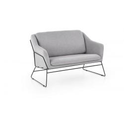Fotel kettős soft 2 XL fényes szürke SOFA