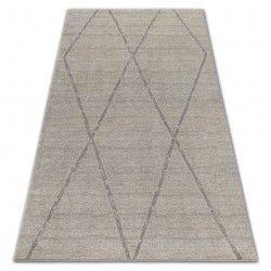 Soft szőnyeg 8033 rombusz etno krém / fényes barna