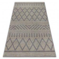 Soft szőnyeg 8034 etno boho krém / fényes barna