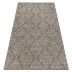 Soft szőnyeg 8036 rombusz etno krém / fényes barna