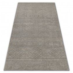 Soft szőnyeg 8040 azték boho krém / fényes bézs