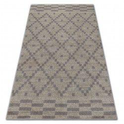 Soft szőnyeg 8047 ruta boho krém / fényes barna
