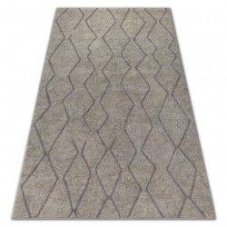 Soft szőnyeg 8050 Cikcakk boho krém / fényes barna