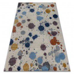 Soft szőnyeg 6152 splash pastel krém / fényes szürke / kék