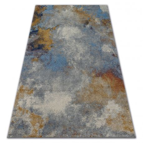 Soft szőnyeg 6315 köd fényes szürke / kék / mustár