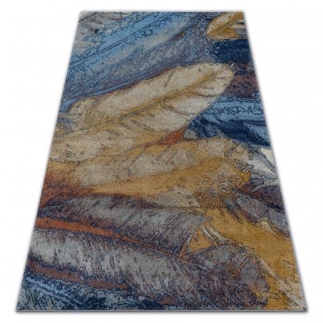 Soft szőnyeg 6316 tollak sárga / kék / mustár
