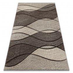 Feel szőnyeg 5675/15011 HULLÁMOK barna / bézs / krém