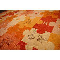 Kirakós szőnyegpadló szőnyeg narancs