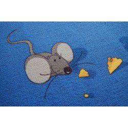 Egerek szőnyegpadló szőnyeg kék