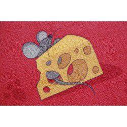 Egerek szőnyegpadló szőnyeg piros